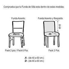 Чехлы на стулья Испания Rustica Gold Ante со спинкой 6 шт., фото 2
