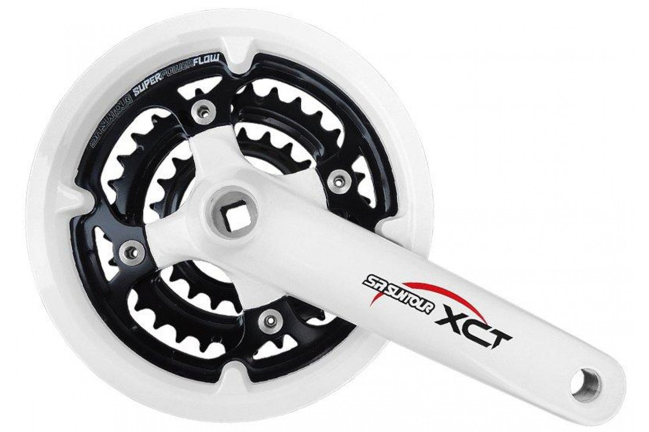 Шатуны Suntour XCT-V3 T312 42/32/22 170мм, белые