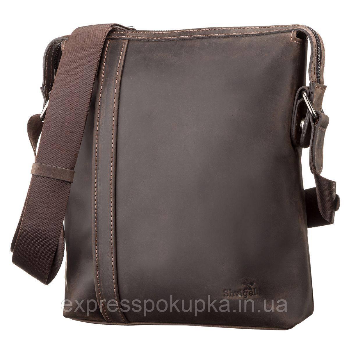 f21952be1d6c Сумка мужская SHVIGEL 11099 кожаная Коричневая, Коричневый: продажа ...