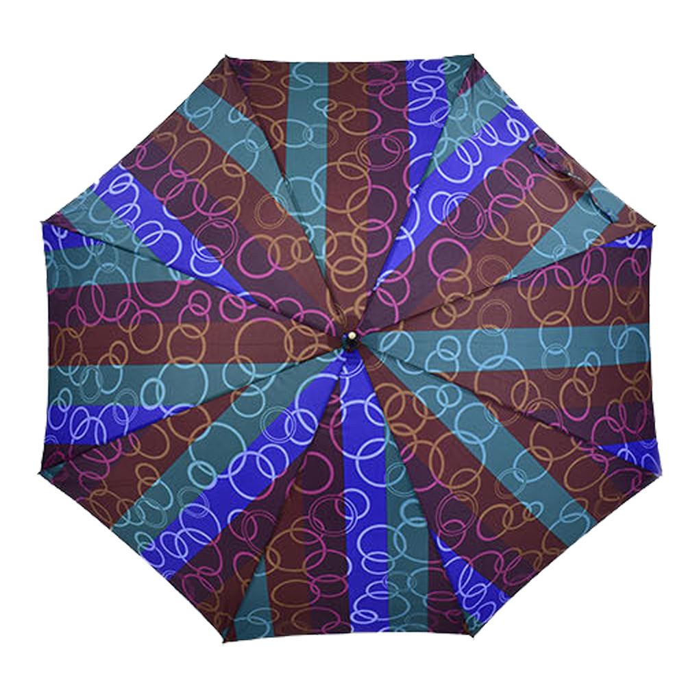 Зонтик C 31650 Бордово-голубой в полоску 69647-2