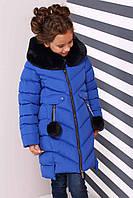 Зимнее пальто на девочку Ясмин с мутоном Тм Nui Very  Размеры 116- 158