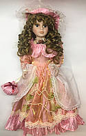 Порцелянова лялька, Porcelain doll, сувенірна, колекційна, 40 см 03-13
