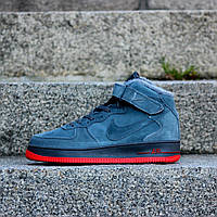 Кроссовки мужские Nike Air Force зимние Найк (Реплика ААА+)