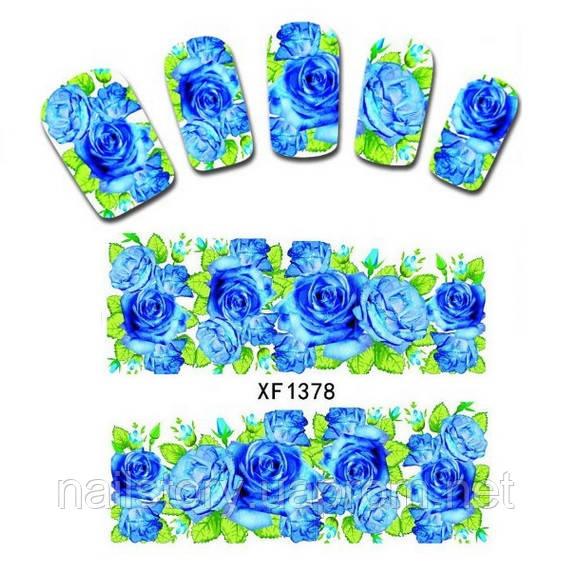 Водные наклейки для ногтей XF1378