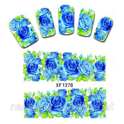 Водные наклейки для ногтей XF1378, фото 2