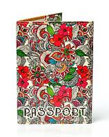 Обложка на паспорт с модным принтом