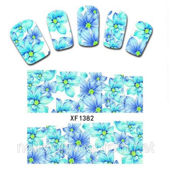 Водные наклейки для ногтей XF1382