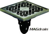Трап сливной MAGdrain FC10Q5-Q полированная бронза 100х100 мм (FC10Q5-Q)