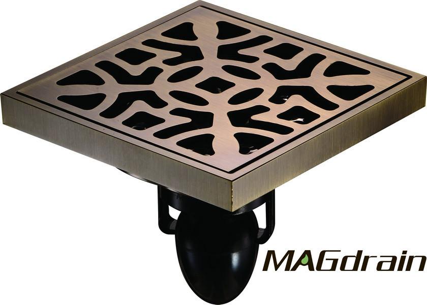 С2 Трап сливной MAGdrain FC15Q5-Q полированная бронза 100х100 мм Н-85