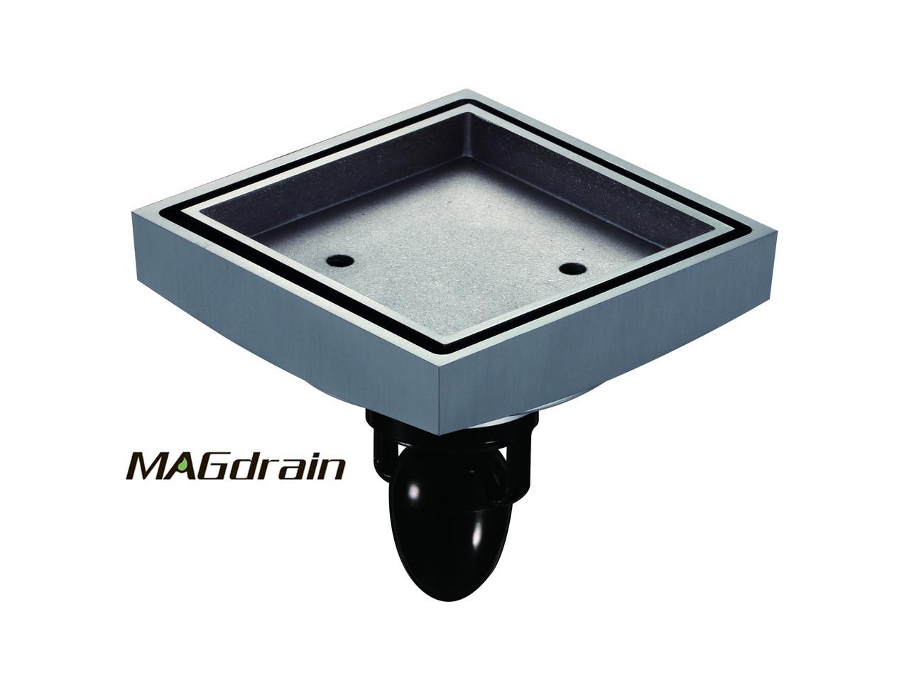 Е2 Трап сливной MAGdrain FC07Q5-G хром под плитку 100х100 мм Н-90