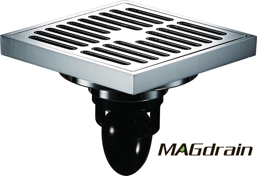 G2 Трап сливной MAGdrain FC13Q5-G хром 100х100 мм H-85