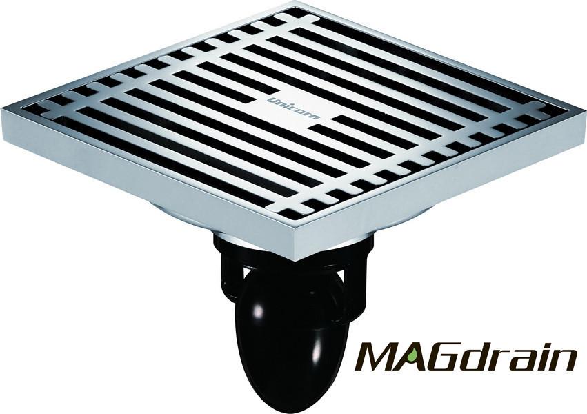 С1 Трап сливной MAGdrain FC01Q5-G хром 100х100 мм Н-85