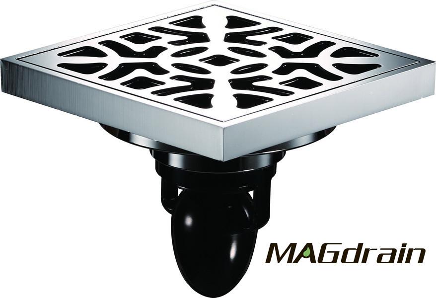 G5 Трап сливной MAGdrain FC15Q5-G хром 100х100 мм H-85
