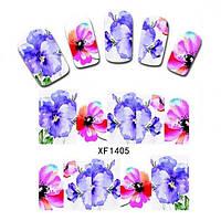 Водные переводки для ногтей XF1405