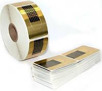 100 форм-наклеек для наращивания ногтей, одноразовые, с разметкой, хорошо держатся, маникюр в салоне и дома