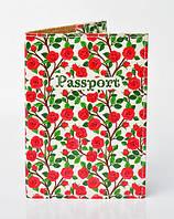 Обложка для паспорта принтированый розами