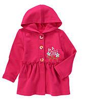 Детская кофта с капюшоном для девочки  12-18, 18-24 месяца, 2 года