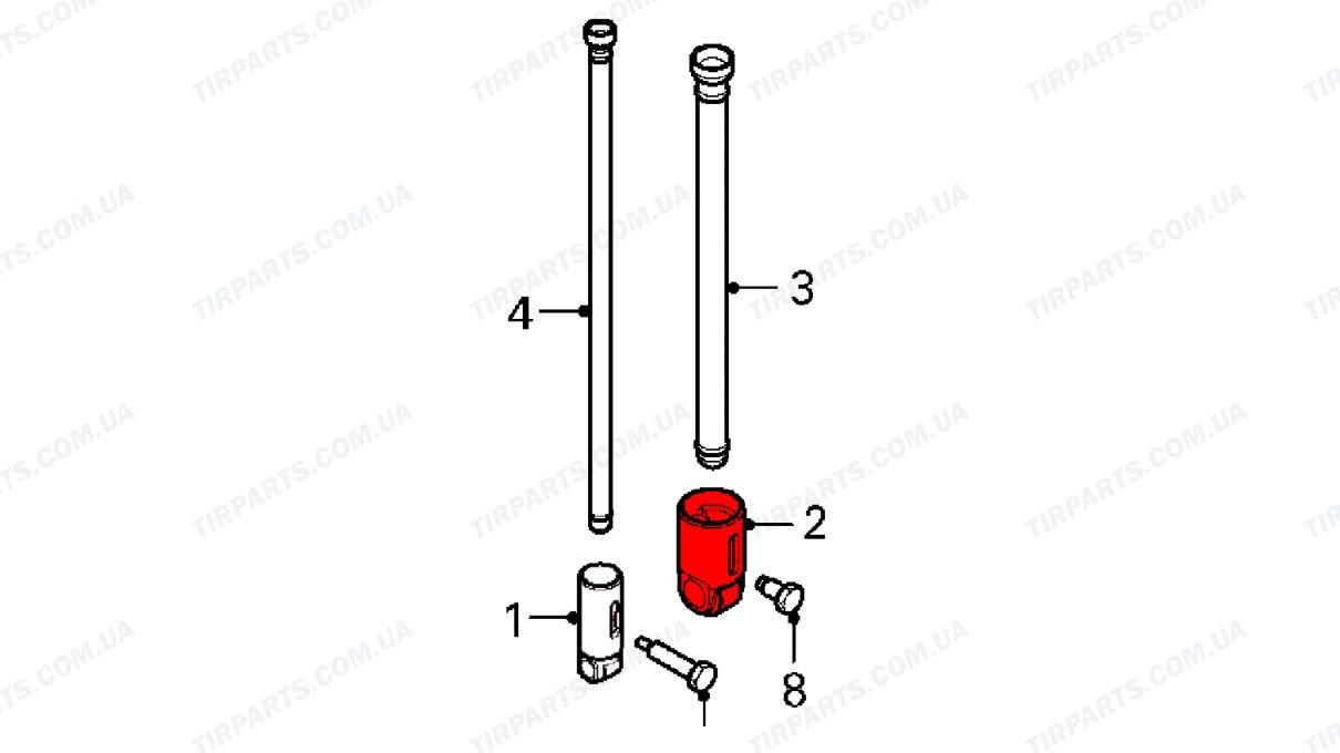 Толкатель штанги [выпуск] DAF XF105, CF (1687744 | 210-DF7744-00 )