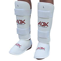 Защита голени с отделяющейся стопой для тхэквондо ADX (карбон белый)