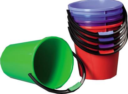Ведро пластиковое цветное 7л.