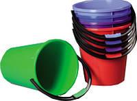 Ведро пластиковое цветное 7л., фото 1