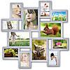 Фоторамка коллаж из дерева на 12 фотографий, белая.
