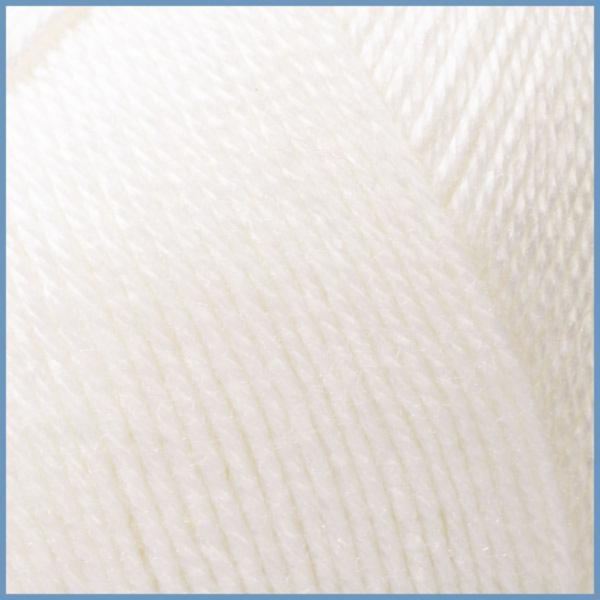 Пряжа для вязания Valencia Gaudi, 0601 (White) цвет, 12% шерсть перуанской ламы, 88% премиум акрил, Код товара: 1059843