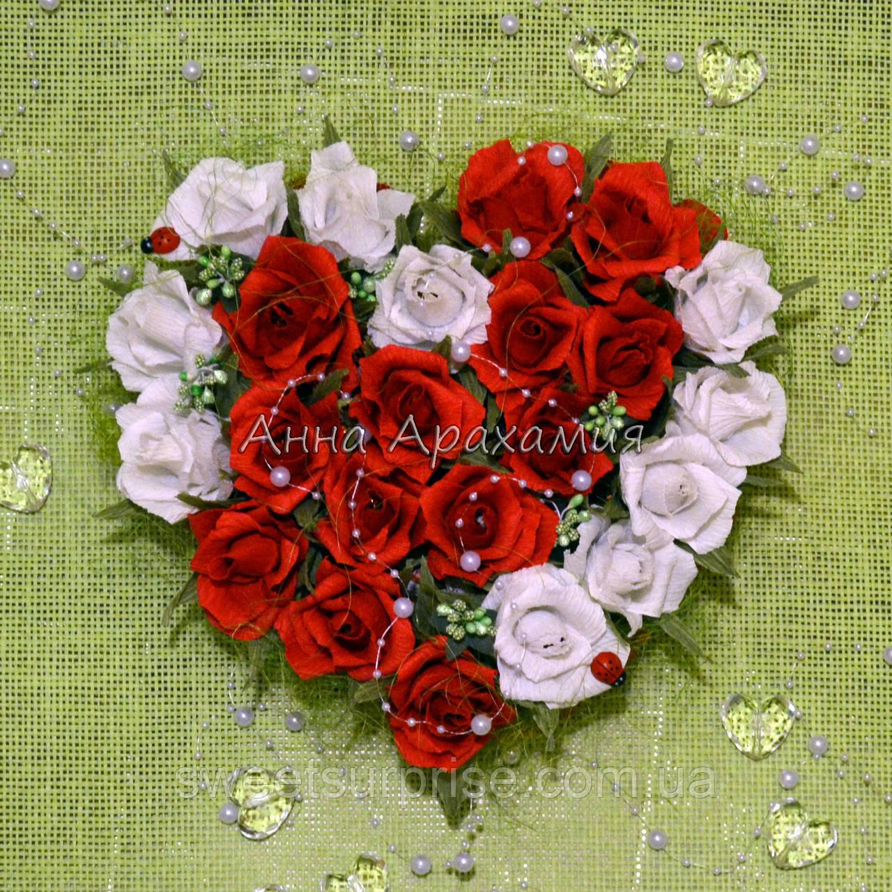 """Сердце из конфет """"Сладкая валентинка"""""""
