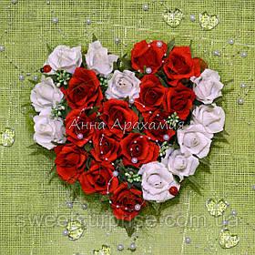"""Серце з цукерок """"Солодка валентинка"""""""