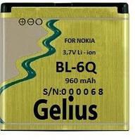 Аккумулятор для мобильного телефона Gelius Nokia BL-6Q (960mAh)