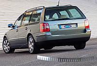 Накладки на задний бампер Volkswagen Passat B5 Variant SW (2000-2005) нерж.- Матированный Omsa