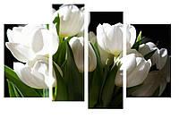 Модульная картина Декор Карпаты 110х70 см Белые Тюльпаны (M4-247)