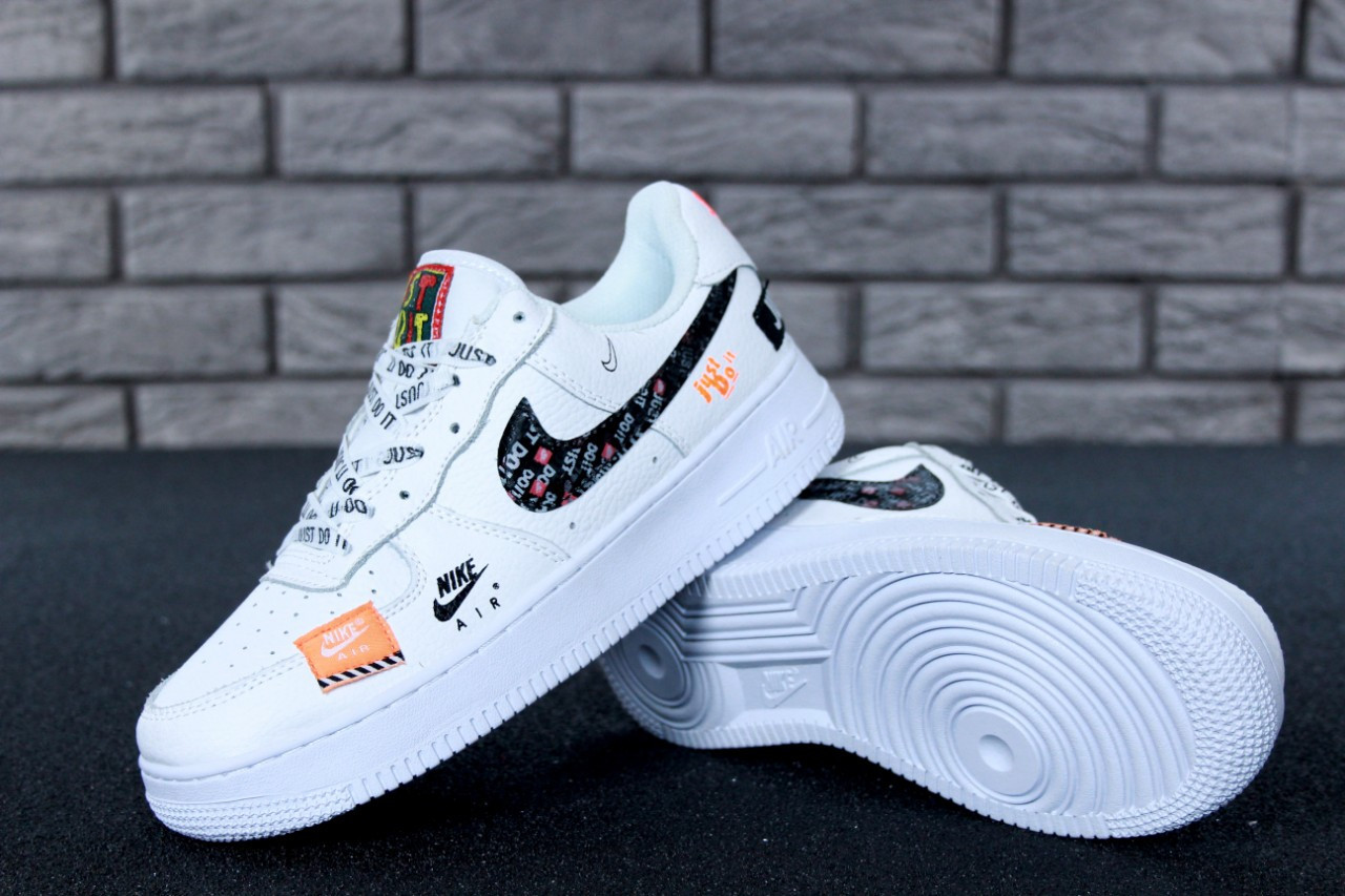 0509a367924e9b Кроссовки мужские Nike Air Force 1 Low Just Do It Pack White, Найк Аир Форс