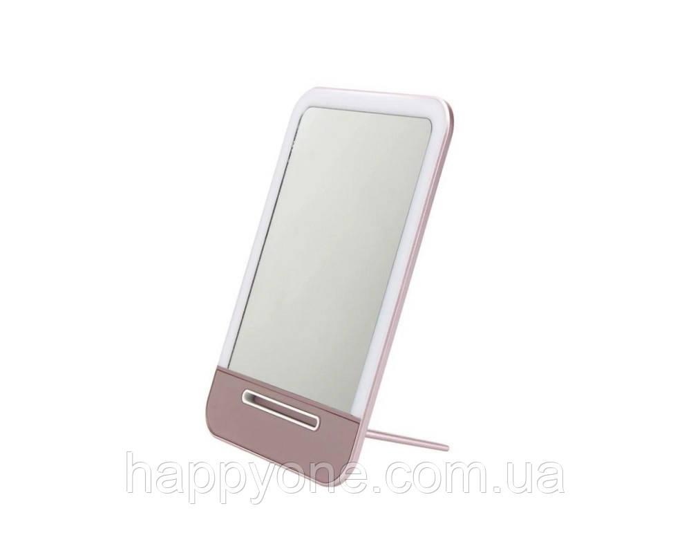 Зеркало с LED подсветкой (розовое)