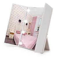 LED-зеркало для макияжа в виде книжечки (белое), фото 1