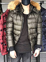 Куртка зимняя мужская с трикотажными манжетами бронза, фото 3