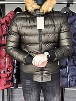 Куртка зимняя мужская с трикотажными манжетами бронза, фото 2