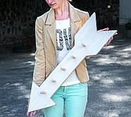 Настенная вешалка для одежды Стрела (светлая), фото 3