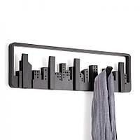 Настенная вешалка для одежды Skyline Umbra (черная) пластиковая