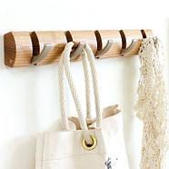 Настенная вешалка для одежды Umbra 5 Flip (светлое дерево), фото 2