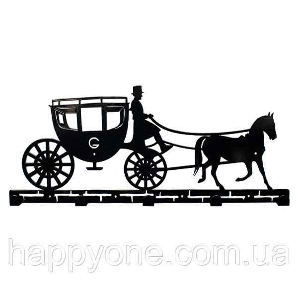 Настенная вешалка для одежды Carriage (металлическая)