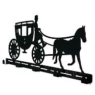 Настенная вешалка для одежды Carriage (металлическая), фото 2