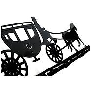 Настенная вешалка для одежды Carriage (металлическая), фото 3