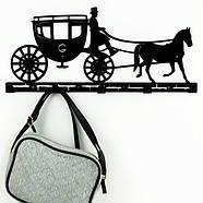 Настенная вешалка для одежды Carriage (металлическая), фото 4