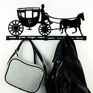 Настенная вешалка для одежды Carriage (металлическая), фото 5