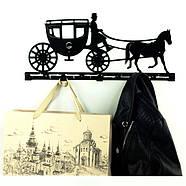 Настенная вешалка для одежды Carriage (металлическая), фото 6