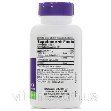 Natrol, Мелатонин, 3 мг, 240 таблеток, фото 2
