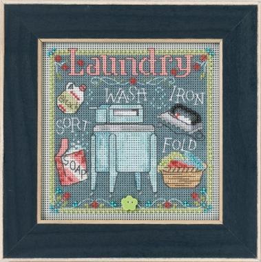 Набор для вышивки крестиком и бисером Mill Hill Laundry (2017)