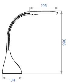 Настольный светильник DELUX TF-120 черный, фото 2