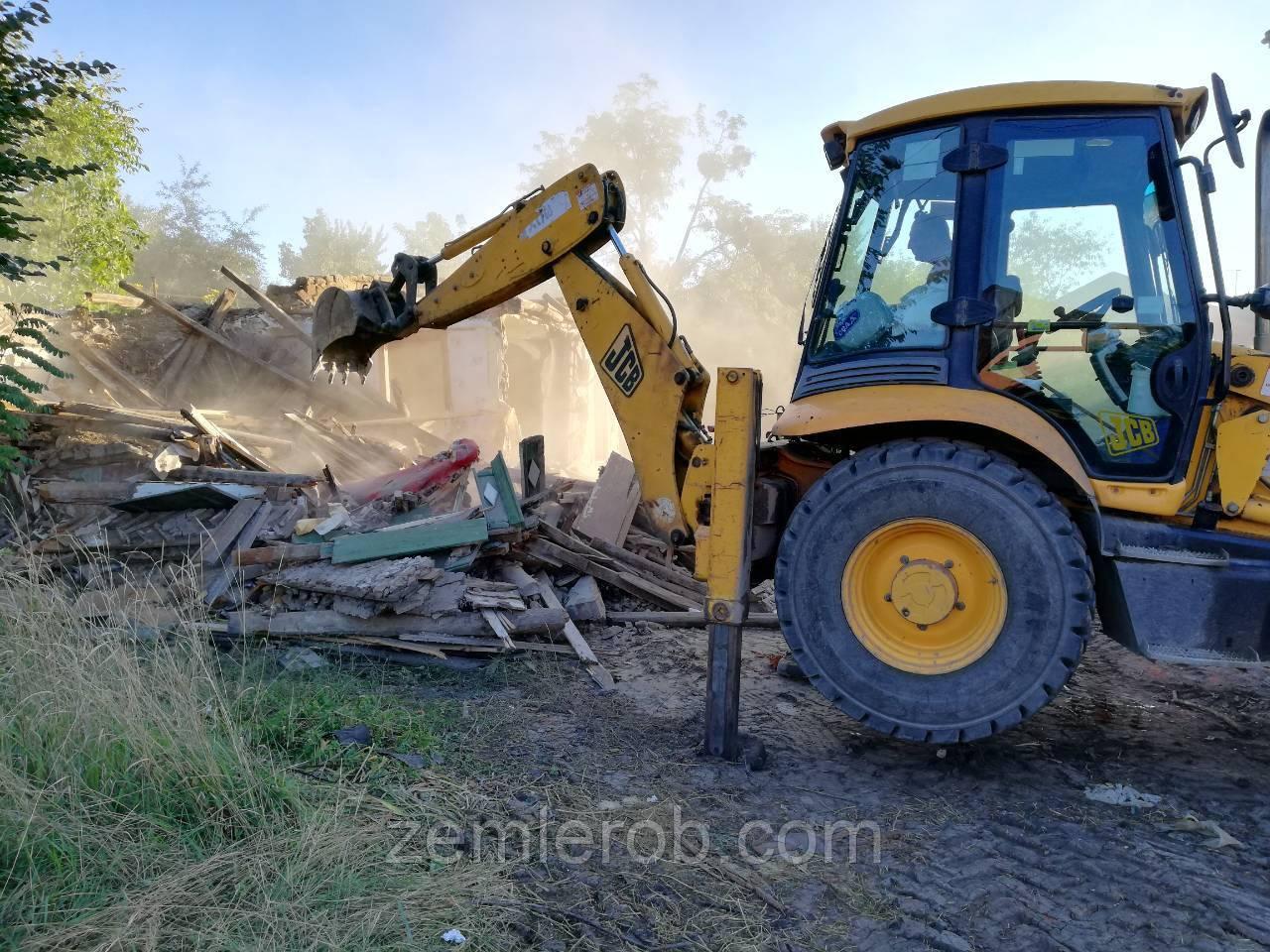 Демонтажные работы. Снос дач. Вывоз строительного мусора